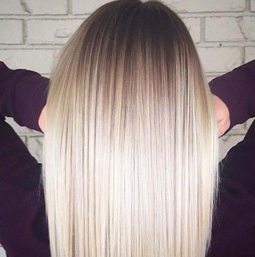 Насыщенные кератином волосы