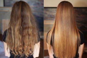 Сияние волос после ламинирования
