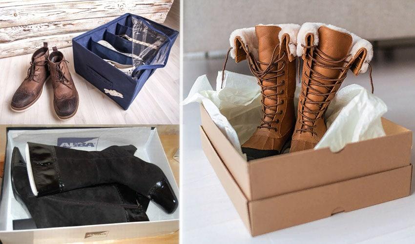 Зимняя обувь на хранении